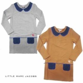 リトルマークジェイコブス LITTLE MARC JACOBS だまし絵 襟 ポケット ワンピース 6A/8A リトル マーク・ジェイコブス LITTLE MARC JACOBS