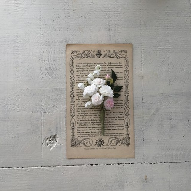 布花 すずらん と ミニ薔薇
