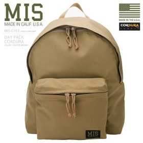 MIS エムアイエス MIS-C103 CORDURA NYLON デイパック / リュックサック MADE IN USA - COYOTE BROWN ミリタリーバッグ バック(クーポン対象外)