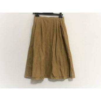 【中古】 フォクシー FOXEY スカート サイズ40 M レディース 美品 ライトブラウン パンチング