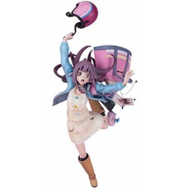 新品 Hdge technical statue No.8 ローリング☆ガールズ 森友望未 ノンスケールATBC-PVC&ABS製 塗装済みフィギュア