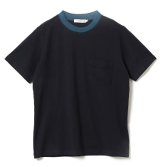 BEAMS LIGHTS / ネックリブ クルーネック Tシャツ メンズ Tシャツ NAVY XL