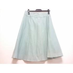 【中古】 ニジュウサンク 23区 スカート サイズ38 M レディース ライトグリーン