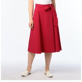 【NOLLEY'S:スカート】リボン付ハイウエストラップスカート