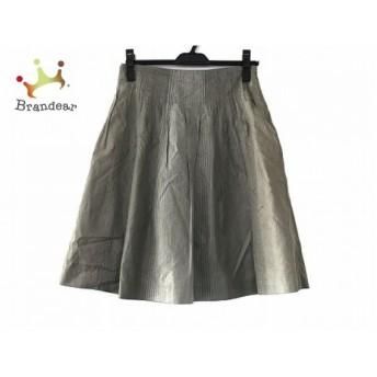 トゥモローランド TOMORROWLAND スカート サイズ38 M レディース グレー プリーツ スペシャル特価 20190731