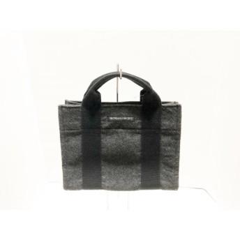 【中古】 アルティザン&アーティスト トートバッグ ダークグレー 黒 ミニサイズ 化学繊維 キャンバス
