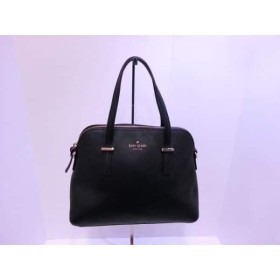 【中古】 ケイトスペード Kate spade ハンドバッグ 美品 シダーストリートメイズ PXRU4471 黒 レザー