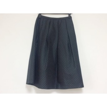 【中古】 レリアン Leilian スカート サイズ9 M レディース ネイビー ライトブルー