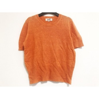 【中古】 ニジュウサンク 23区 半袖セーター サイズ38 M レディース オレンジ 麻