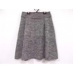 【中古】 レキップ ヨシエイナバ L'EQUIPE YOSHIE INABA スカート サイズ38 M レディース 黒 白