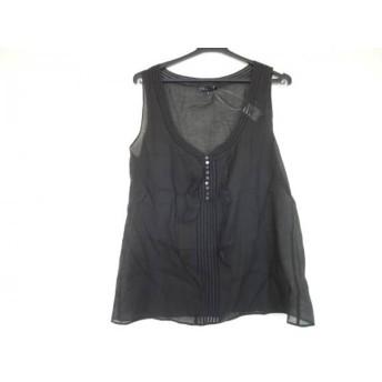 【中古】 セオリー theory ノースリーブシャツブラウス サイズ2 S レディース 美品 黒