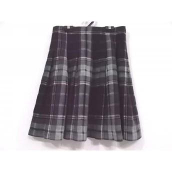 【中古】 レキップ ヨシエイナバ スカート サイズ38 M レディース ダークグリーン 黒 白