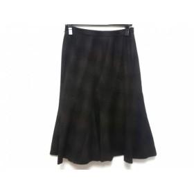 【中古】 ニジュウサンク 23区 スカート サイズ38 M レディース ダークブラウン 黒