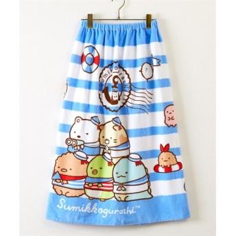 【水泳、プール。通園。通学。子供用】すみっコぐらし 80cm丈ラップタオル タオル