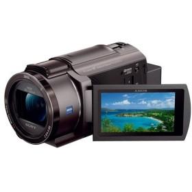 【中古】SONY製 デジタル4Kビデオカメラレコーダー FDR-AX45/TI ブロンズブラウン 展示品