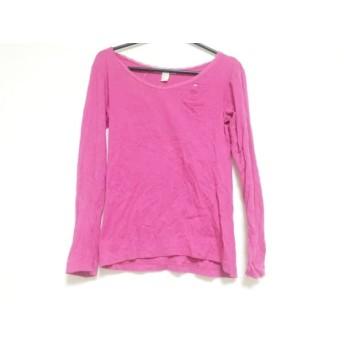 【中古】 ツモリチサト TSUMORI CHISATO 長袖Tシャツ サイズ2 M レディース ピンク レース/ラインストーン