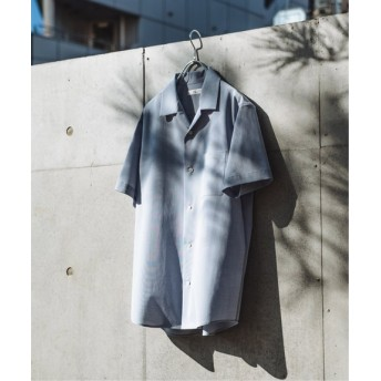 EDIFICE メランジ オープンカラーシャツ サックスブルー S