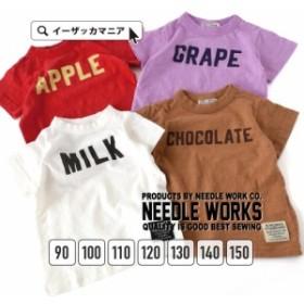Tシャツ トップス カットソー NEEDLE WORKS  【メール便可20】 FOODロゴプリント 半袖カットソー[キッズ] 夏新作
