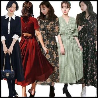 【2枚送料無料】 高品質 韓国ファッション ワンピース メリヤスワンピース ストライプのワンピース 半袖ワンピース 二点セットスカートニットワンピース