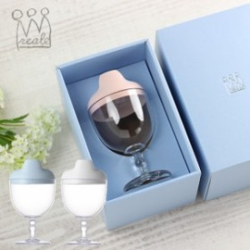 即納 レアーレ Reale グラス&キャップ ソムリエ(離乳食 食器 おしゃれ かわいい ベビー食器 子ども食器 子供用食器 子供)