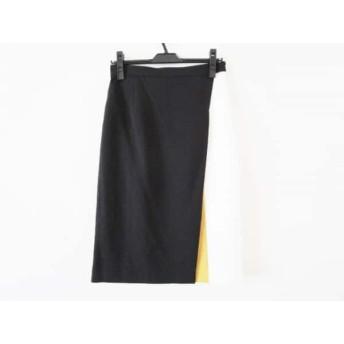 【中古】 ピンキー&ダイアン Pinky & Dianne スカート サイズ40 M レディース 美品 黒 白 ブラウン