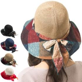 商品名 カラフォーハット UVカット 帽子 レディース 大きいサイズ つば広 夏 麦わら