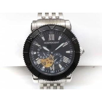 【中古】 インディペンデント INDEPENDENT 腕時計 8227-003070-02 メンズ 裏スケ 黒