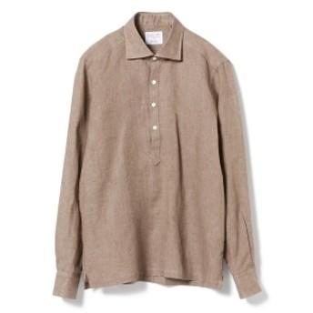 Brilla per il gusto / リネン プルオーバー カッタウェイ ワイドカラーシャツ メンズ カジュアルシャツ LT. BROWN/26 M