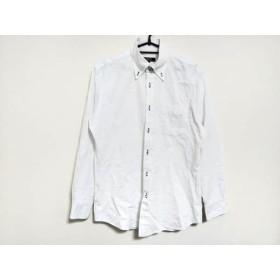 【中古】 バーバリーブラックレーベル Burberry Black Label 長袖シャツ サイズ40 M メンズ 白 チェック柄