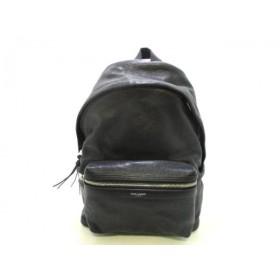 b410a7384504 【中古】 サンローランパリ リュックサック 美品 シティーバックパック 462807 黒 レザー