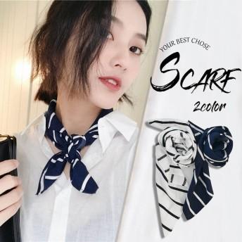 ストール スカーフ レオパード柄 薄手 2way ボウタイ 韓国ファッション