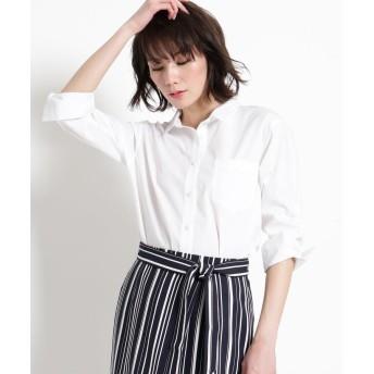 COUP DE CHANCE(クードシャンス) 【洗える】プチ衿コットンブロードシャツ