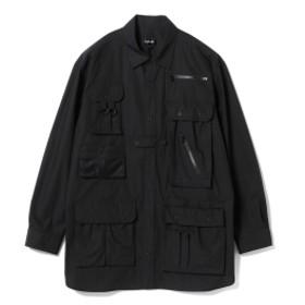 TA CA Si / ユーティリティシャツ メンズ カジュアルシャツ BLACK 44/S