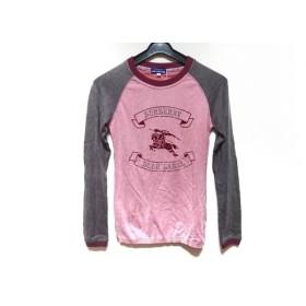 【中古】 バーバリーブルーレーベル 長袖セーター サイズ38 M レディース ピンク グレー