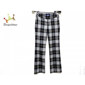 バーバリーブルーレーベル パンツ サイズ36 S レディース 黒×アイボリー×ベージュ×グレー     スペシャル特価 20191020