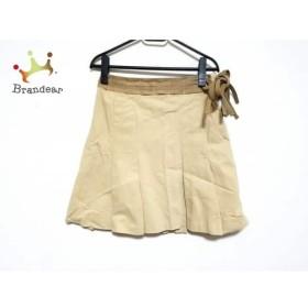 バーバリーブルーレーベル スカート サイズ38 M レディース ベージュ×ライトブラウン     スペシャル特価 20190928