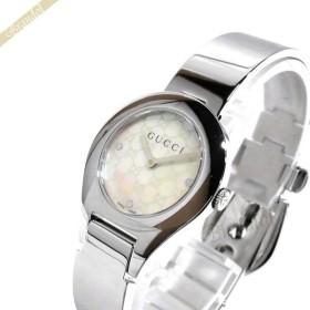 4df6e8017b68 グッチ GUCCI レディース腕時計 バングルウォッチ 26mm ホワイトパール×シルバー YA067506 [在庫品]
