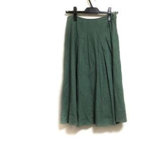 【中古】 ホコモモラ JOCOMOMOLA スカート サイズ40 XL レディース グリーン