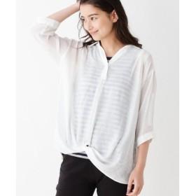 SHOO・LA・RUE / シューラルー 裾ねじりスラブシャツ