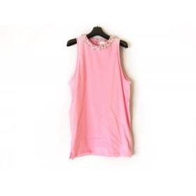 【中古】 スリーワンフィリップリム チュニック サイズS レディース 美品 ピンク クリア ビジュー