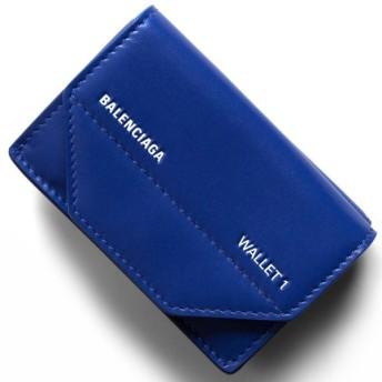 バレンシアガ 三つ折り財布/ミニ財布 財布 レディース エテュイ ロゴ ブルー&ブランホワイト 529098 0ST2N 4290 BALENCIAGA