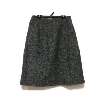 【中古】 シビラ Sybilla スカート サイズL レディース ダークグレー ライトグレー