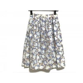 【中古】 アニエスベー agnes b スカート サイズ36 S レディース ブルー ライトブルー マルチ