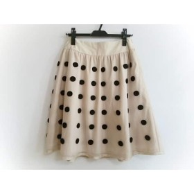 【中古】 トゥービーシック TO BE CHIC スカート サイズ42 L レディース ベージュ 黒