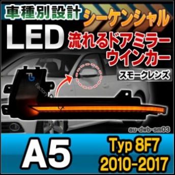 ll-au-dwb-sm03 スモークレンズ LEDドアミラーウインカーランプ A5 Cabriolet カブリオレ(Typ 8F7 2010-201