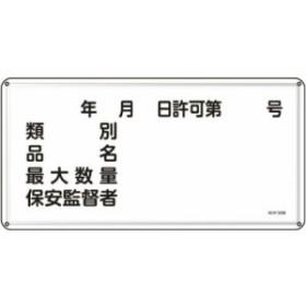 緑十字 KHY-30M 消防・危険物標識類別・品名・保安監督者300×600mmスチール 055130