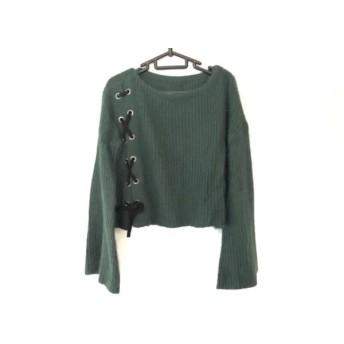 【中古】 グレースコンチネンタル GRACE CONTINENTAL 長袖セーター サイズ36 S レディース 美品 グリーン