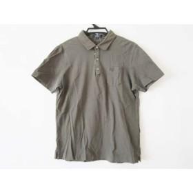 【中古】 バーバリーロンドン 半袖ポロシャツ サイズLL メンズ カーキ ダークグリーン マルチ