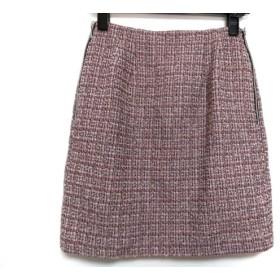 【中古】 アプワイザーリッシェ Apuweiser-riche スカート サイズ1 S レディース ピンク 黒 白 ツイード