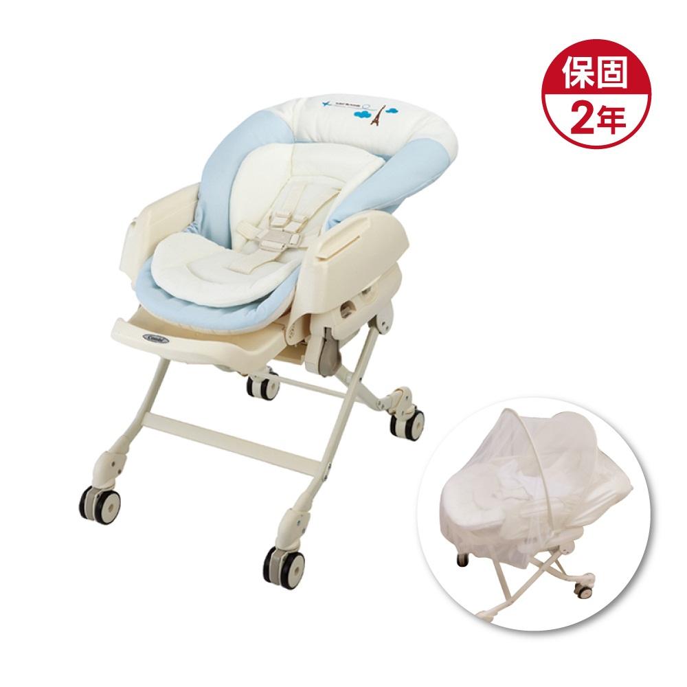 Combi Letto電動安撫餐椅搖床 ST款-藍色巴黎